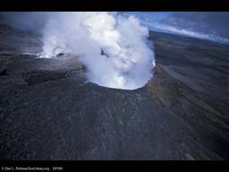 Disturbance: Active Volcano (aerial), Hawaii, USA
