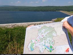 Rondout Reservoir with map