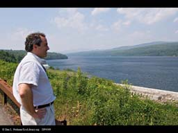 Dave Tobias, DEP Official at Rondout Reservoir