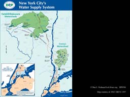 New York City water supply system map