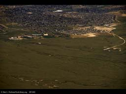Advancing wave of urbanization (aerial), Western USA